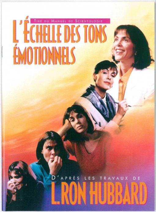 Livret sur L'échelle des tons émotionnels, tiré du manuel de Scientologie et des travaux de L. Ron Hubbard de 30 pages.