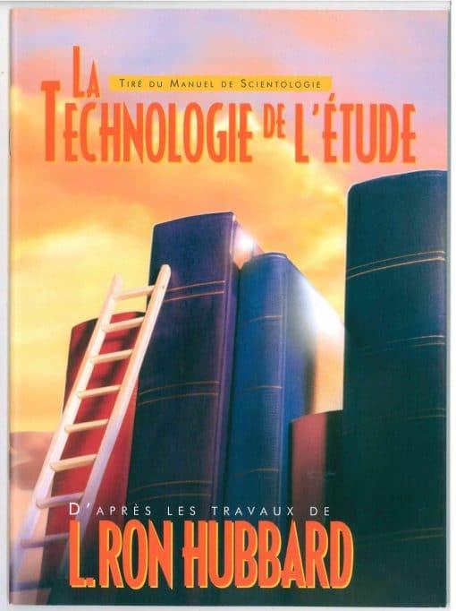 Livret sur La technologie de l'étude, tiré du manuel de Scientologie et des travaux de L. Ron Hubbard de 47 pages.